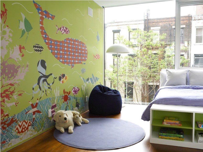 Роспись на стенах в детской