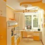 Детская комната в оранжевых тонах