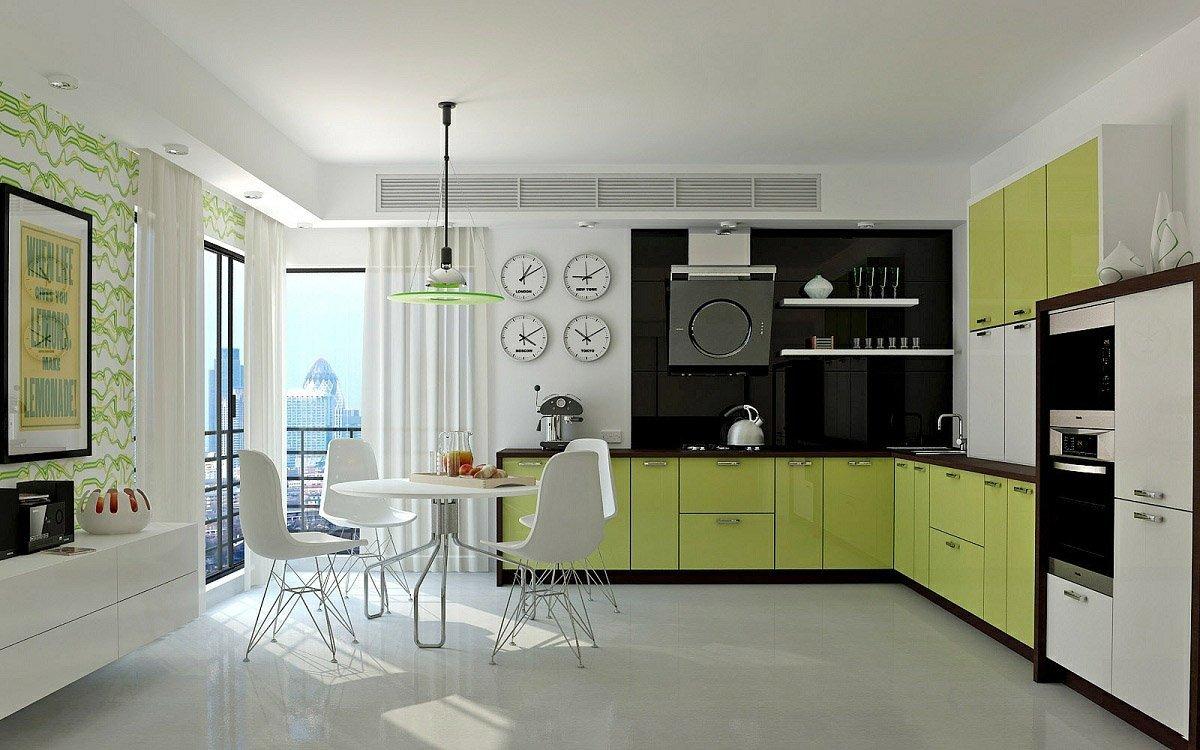 Современная мебель в интерьере кухни