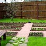 Огород с дорожками