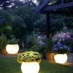 Цветочные горшки с подсветкой