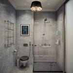 Стильный интерьер ванной комнаты 6 кв. м.