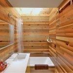Декор ванны деревом