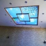 Виртуальное окно с подсветкой на потолке