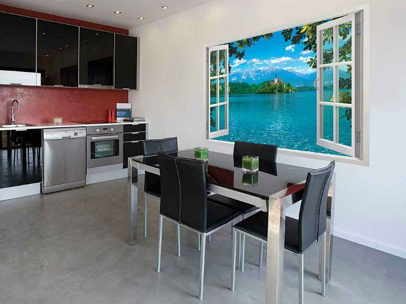 Виртуальное окно на кухне