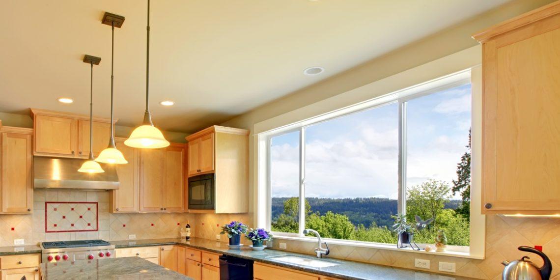 Фальш окно на кухне