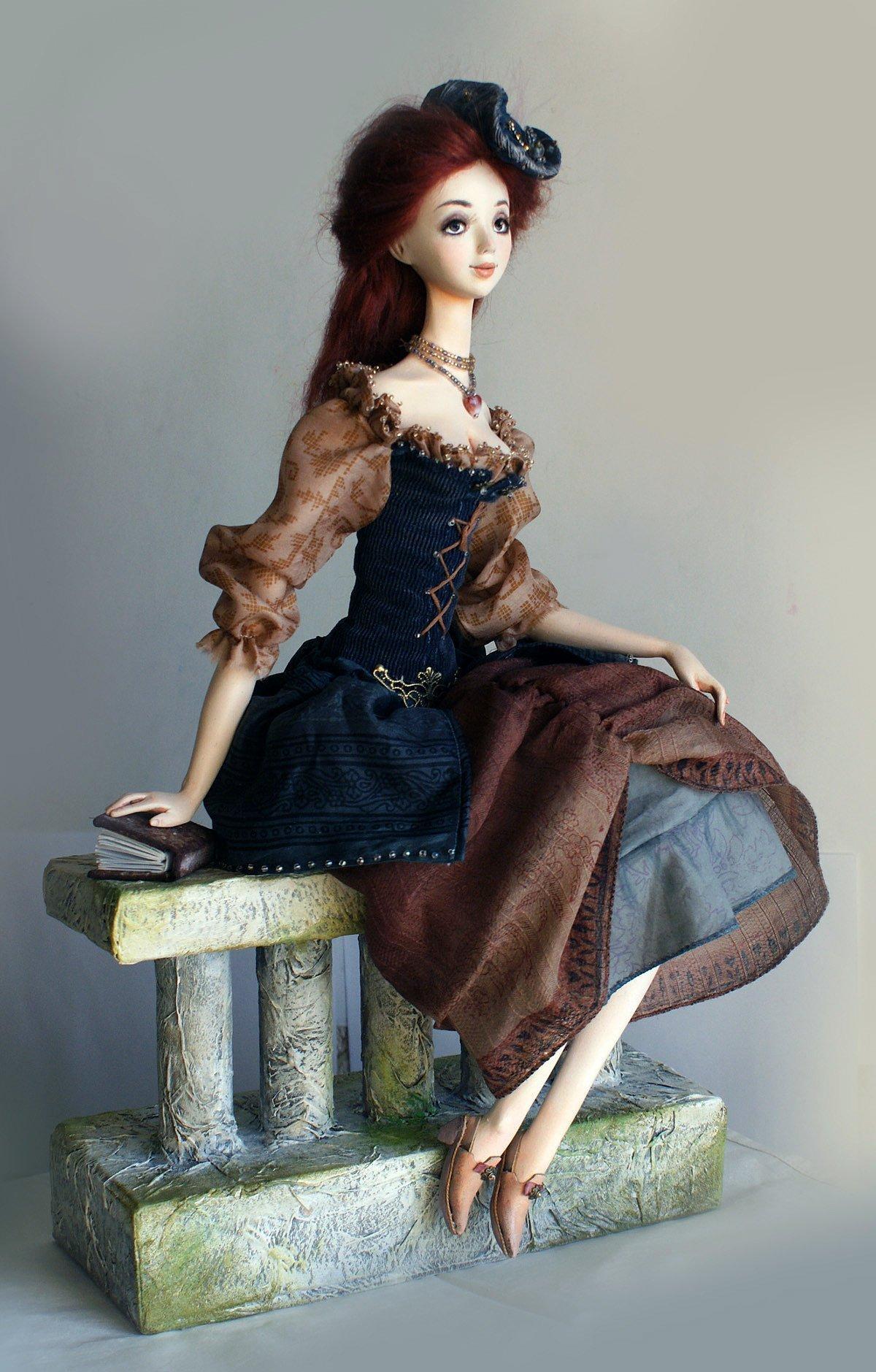 Куклы из полимерной глины мастер класс фото