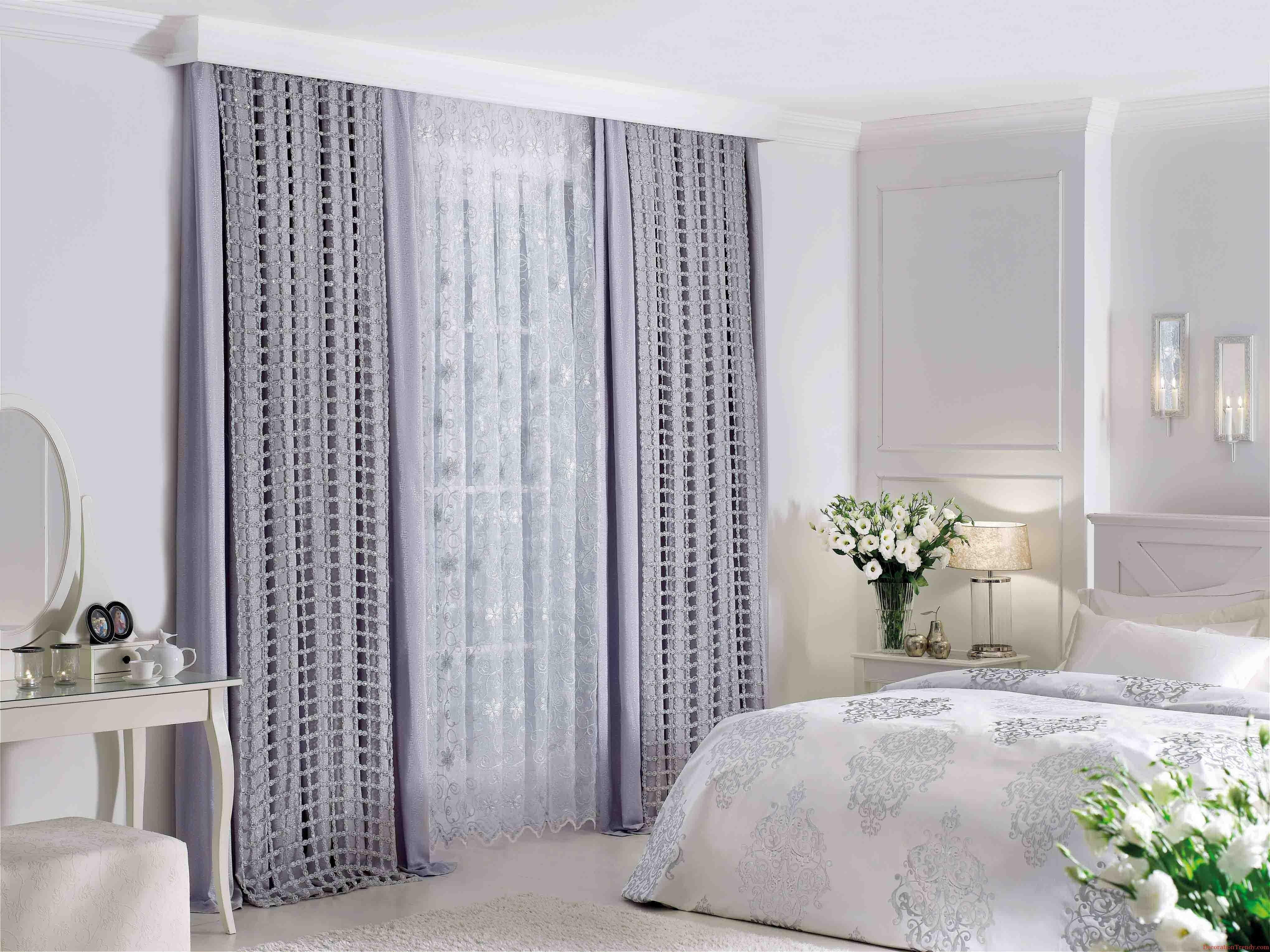 Блестящие серые шторы
