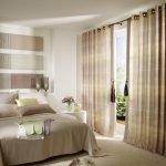 Простые шторы для спальни