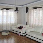 Красивые белые шторы