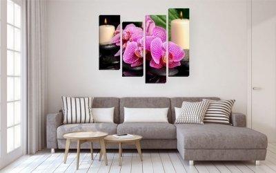 Картины в интерьере гостиной +75 фото
