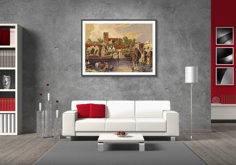 Сочетание серых стен и белой мебели