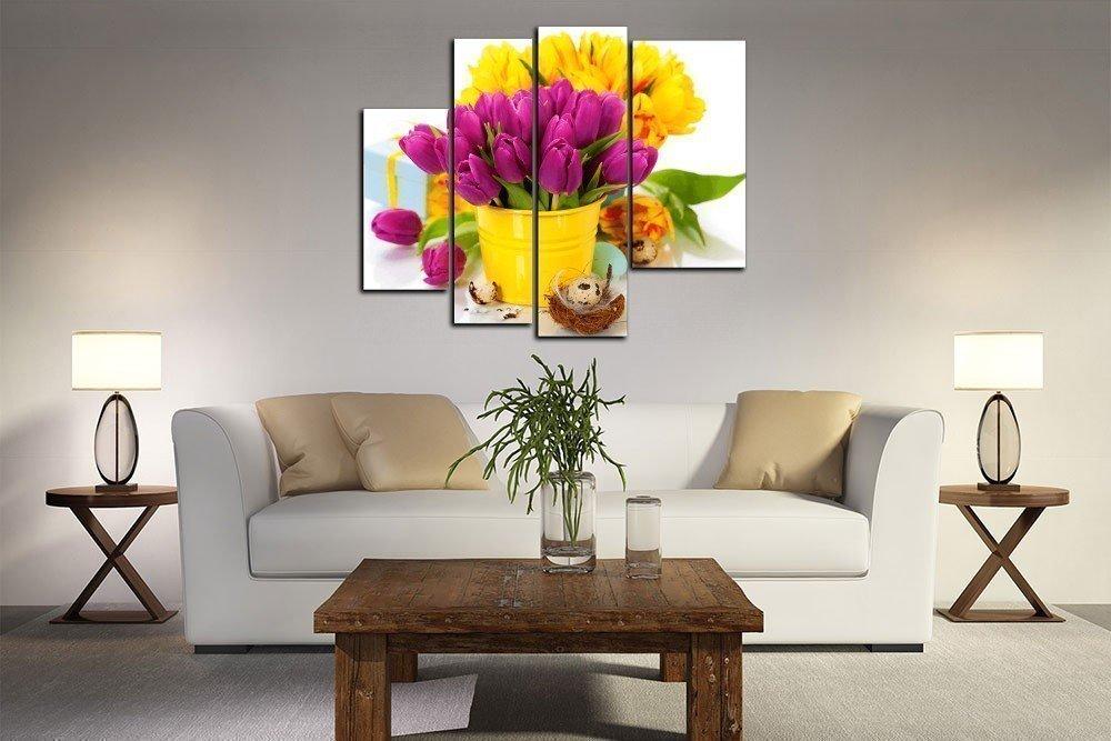 Ведерко с тюльпанами