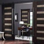 Раздвижные двери цвета венге