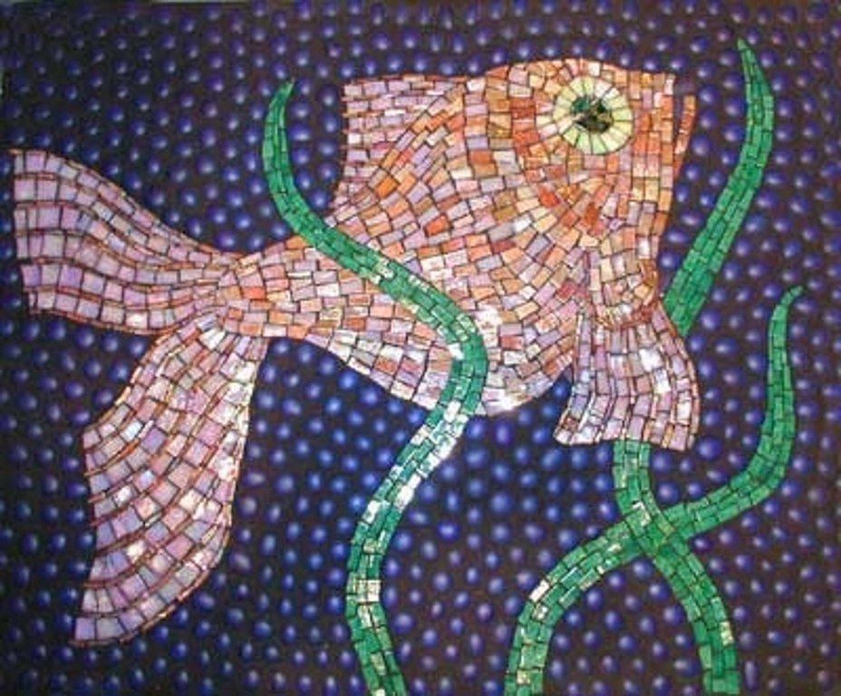 Рыбка из мозаики