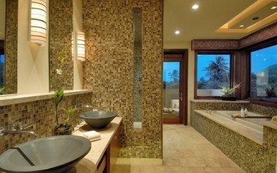 Мозаика в ванной комнате: дизайн +75 фото