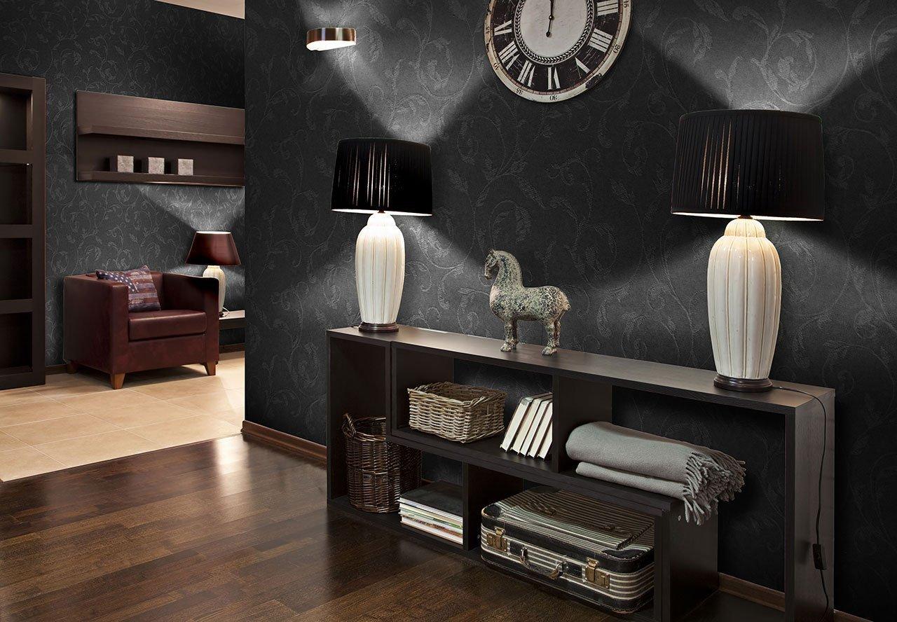 Как осветлить комнату с темными обоями фото