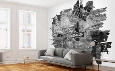 Рисунки на стенах в интерьере +75 фото