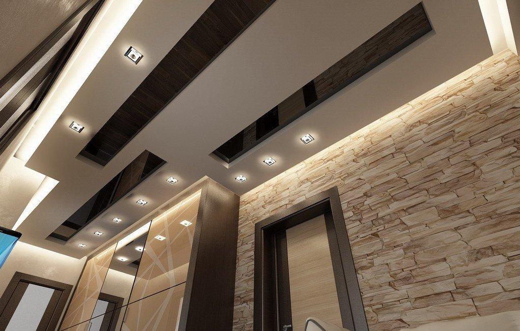 Потолок в современной прихожей