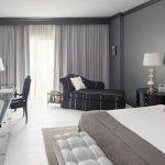 Черно-серая мебель для комнаты