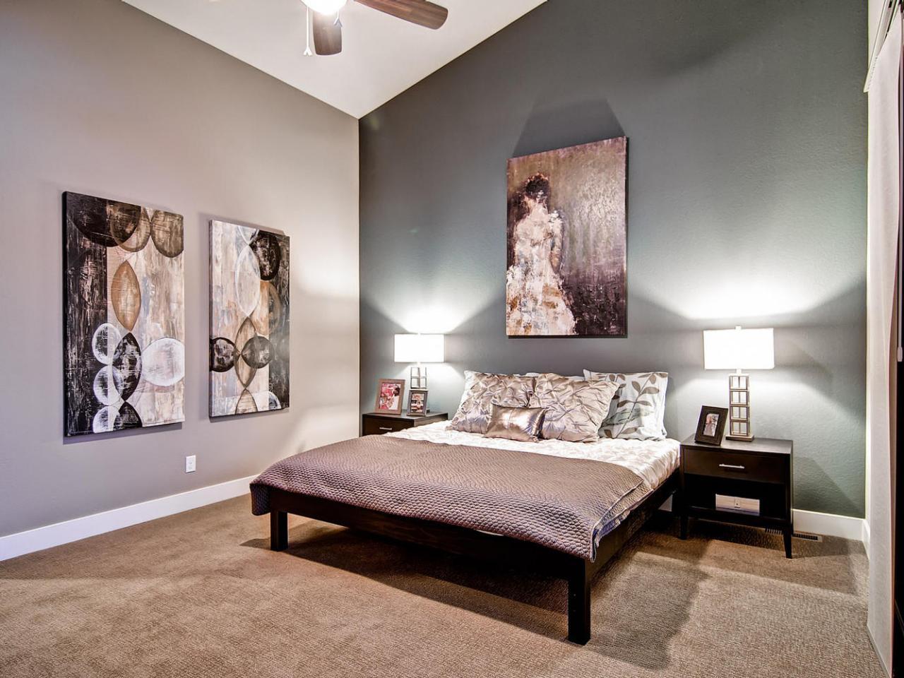 Красивое оформление стен в спальне