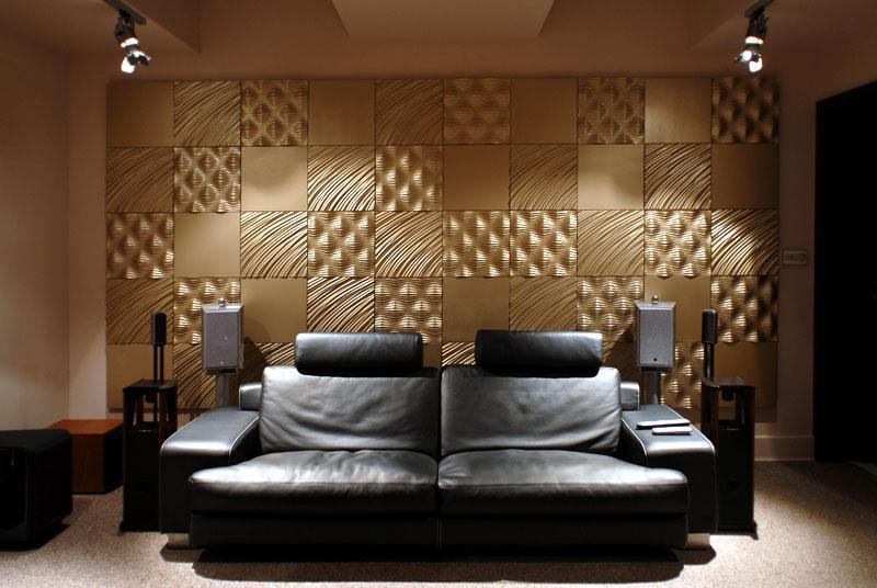Плиточные стеновые панели в интерьере