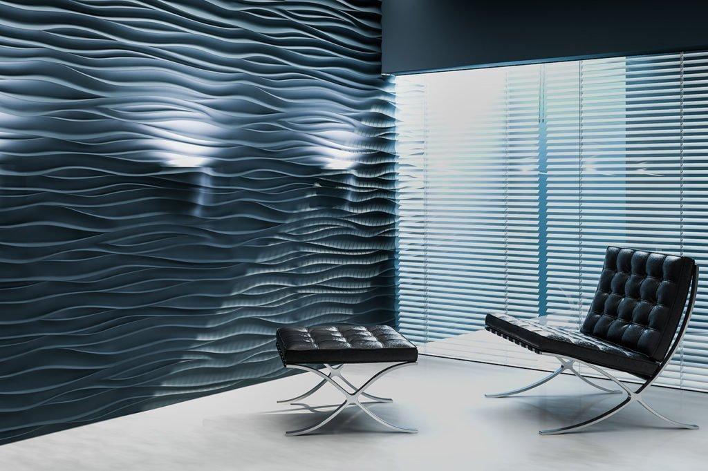Гипсовиниловые стеновые панели в интерьере