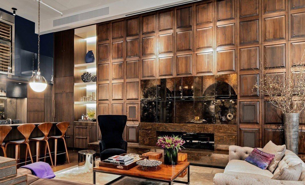 Стеновые панели из дерева в интерьере
