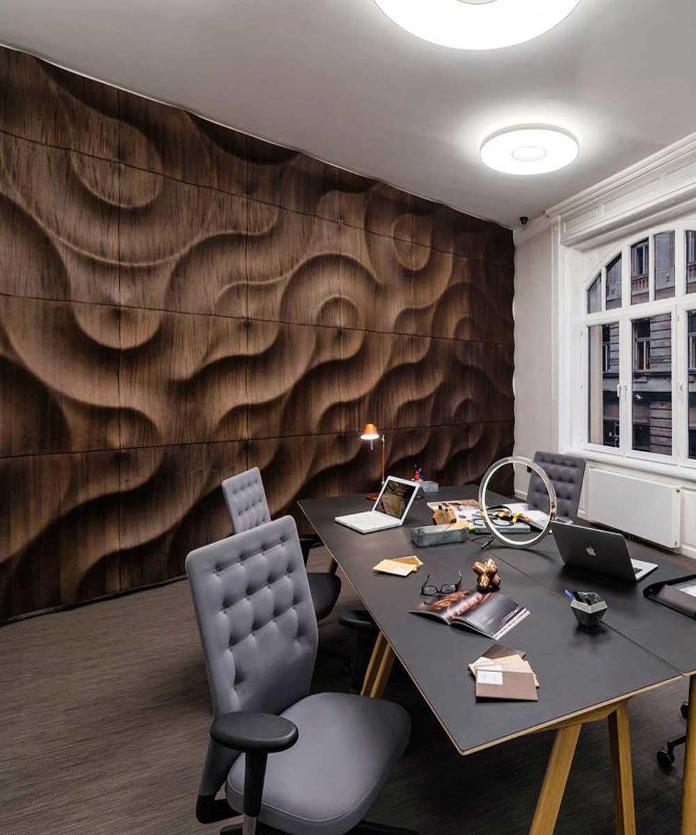 Стеновые 3D панели в интерьере