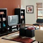 Темная мебель в современной гостиной