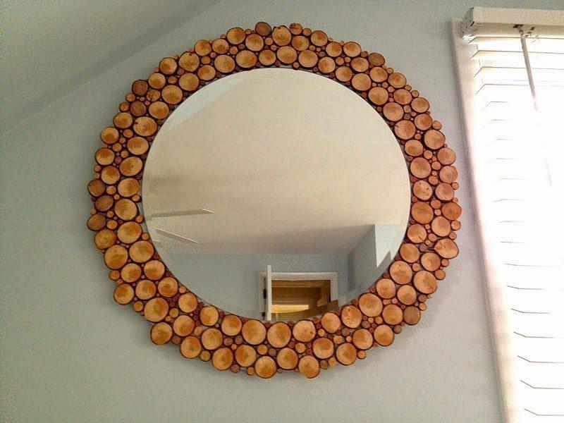 Декор зеркала спилами
