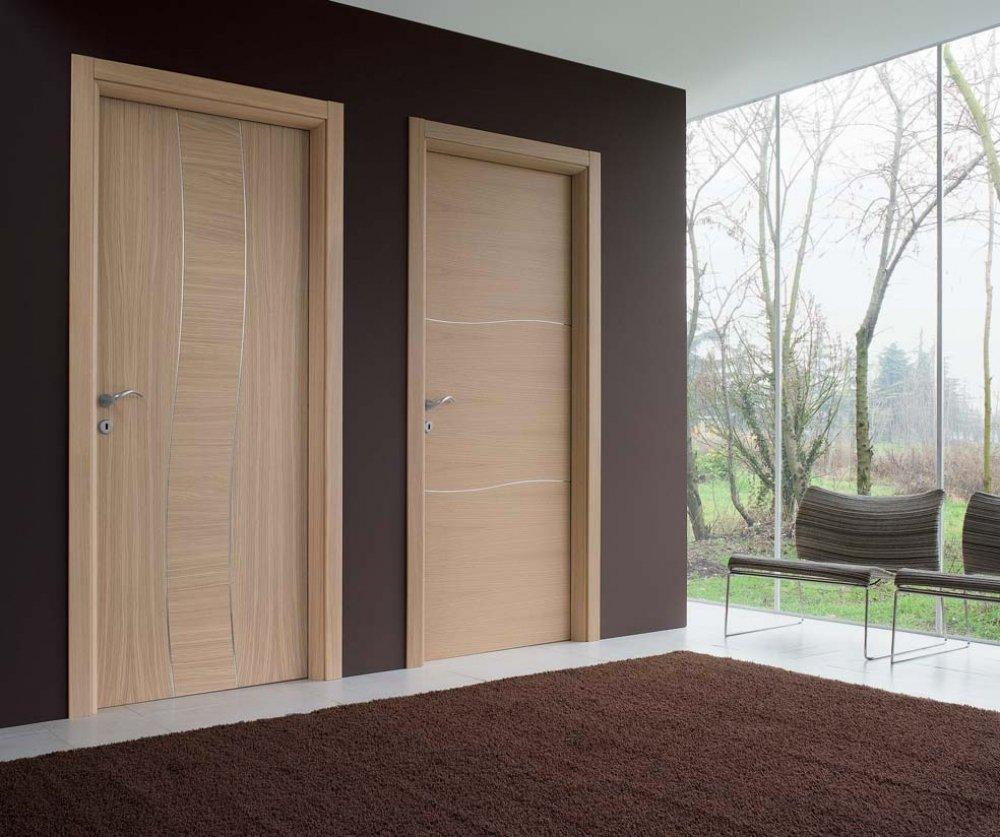 Двери под беленый дуб в интерьере