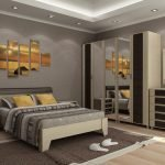 Модульная картина над кроватью