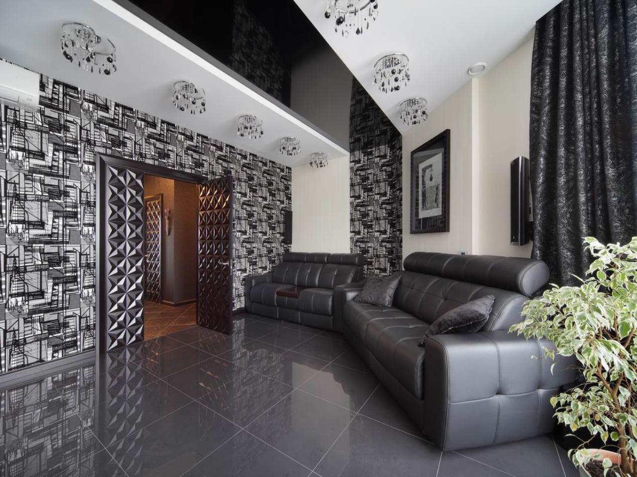 Монохромный декор зала