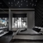 Светодиодная подсветка на темном потолке