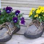 Туфли с анютиными глазками