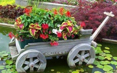 Декор для сада своими руками +75 фото
