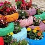 Колеса с цветами