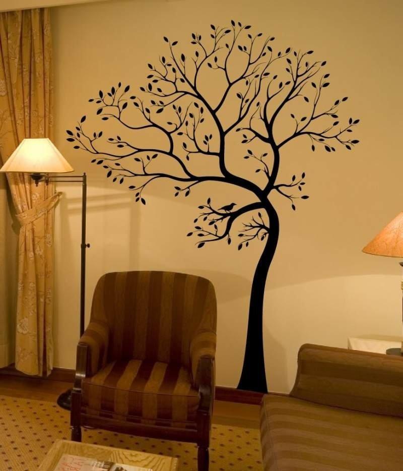Наклейка «Дерево» в интерьере