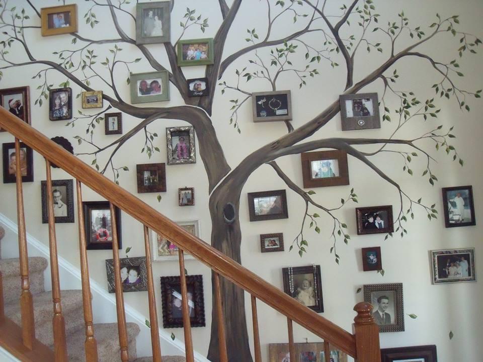 Генеалогическое древо в интерьере