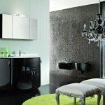 Декор монохромной ванной комнаты