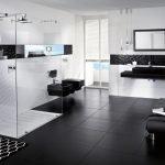 Черный пол в ванной