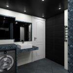 Белая дверь в темной ванной