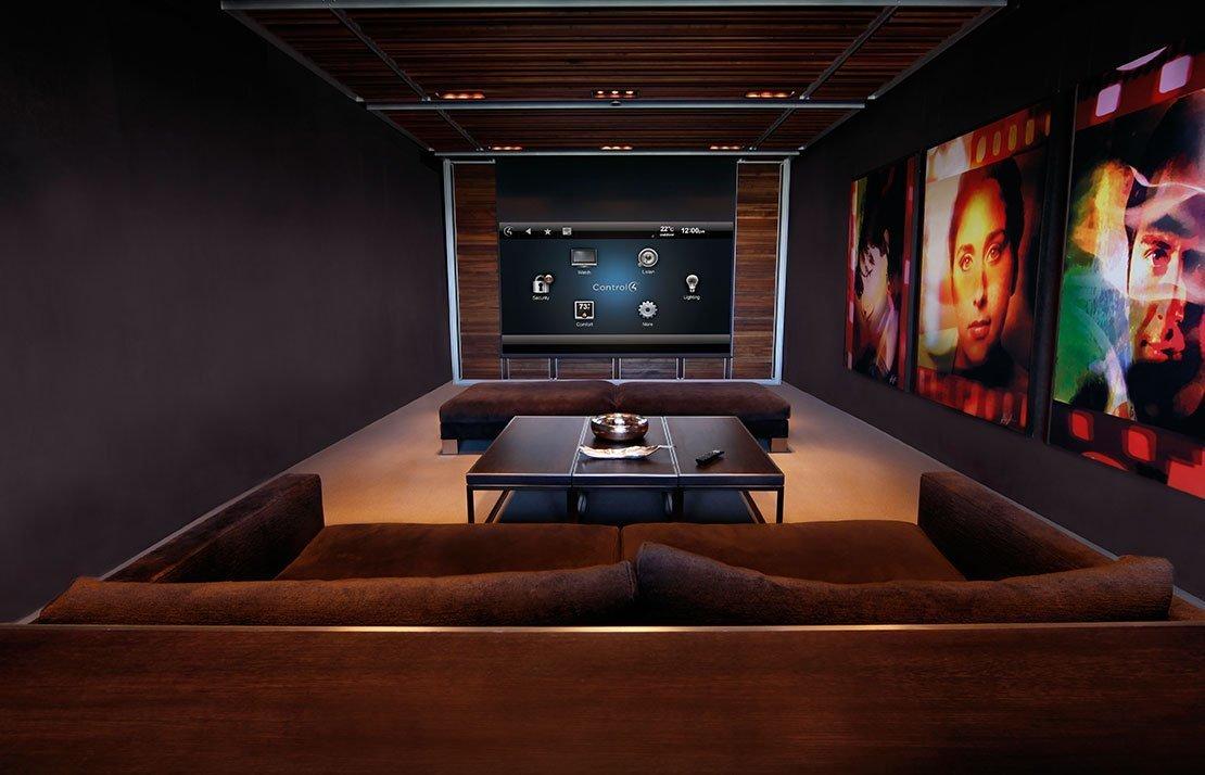 Современный дизайн домашнего кинотеатра