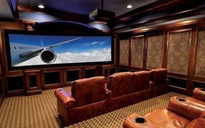 Дизайн домашнего кинотеатра +40 фото интерьера