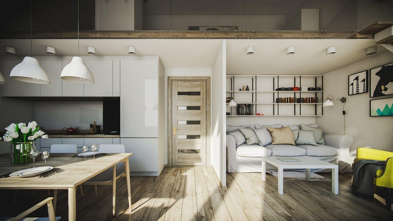 Интерьер двухуровневой квартиры