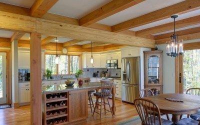 Дизайн кухни в загородном доме +75 фото