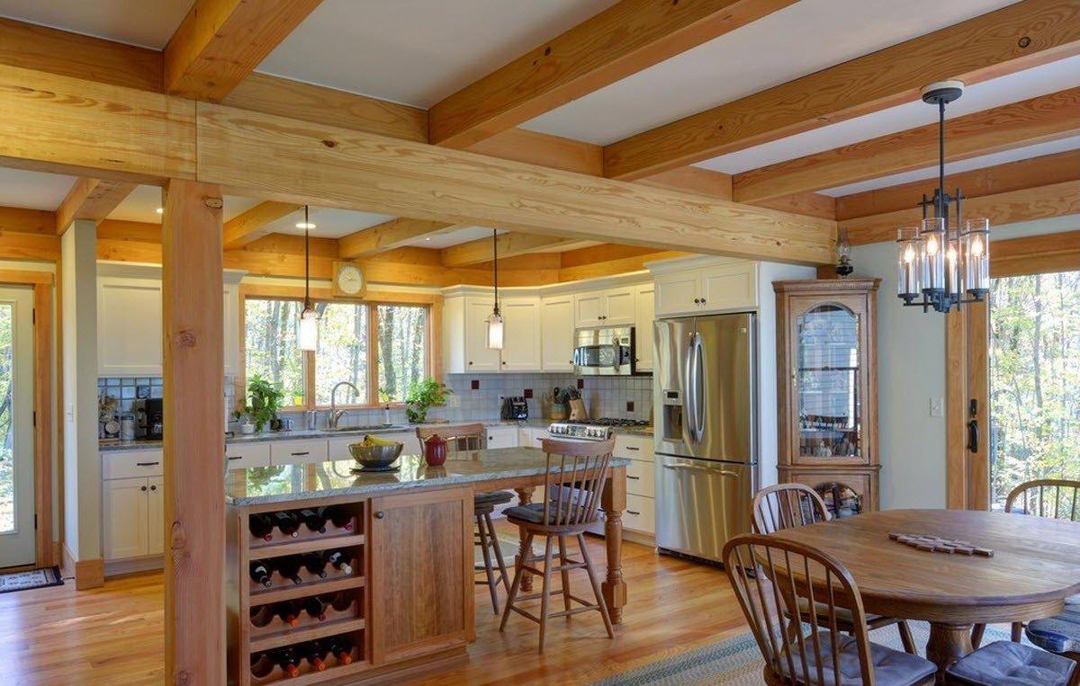 дизайн кухни в загородном доме 75 фото интерьера