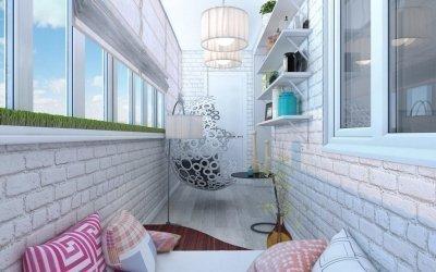 Дизайн маленького балкона +75 фото примеров интерьера