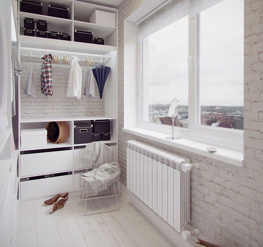 Зона хранения на маленьком балконе